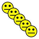 Scrum Smiley Magneet 5 cm Geel Diagonaal