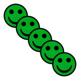 Scrum Smiley Magneten 5cm Groen Diagonaal
