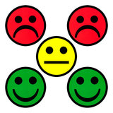 Whiteboard Smiley Magnets 5 cm Mix