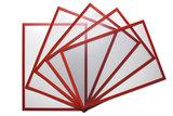 5 Magnetische insteekhoezen Rood