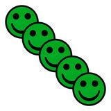 Scrum Smiley Magneten 5cm Groen Diagonaal