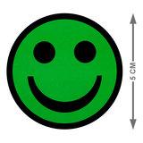 Scrum Smiley Magneten Groen 5 cm  Maat