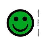 Scrum Smiley Magneten 2,5 cm Groen Maat