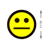 Scrum Smiley Magneten 2,5 cm Geel Maat