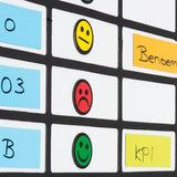 Scrumbord smiley magneet 2,5 cm groen