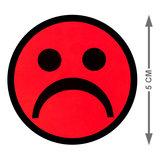 Scrum Smiley Magneet Rood 5 cm Maat