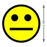 Scrum Smiley Magneet 5cm Geel Maat