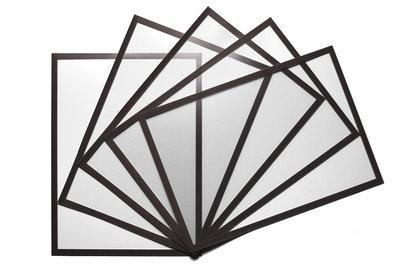 5 Magnetische insteekhoezen Zwart