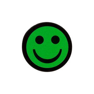 Smiley Magneet 2,5 cm Groen