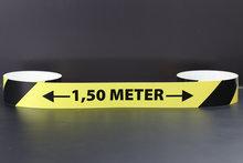 1,50 meter afstand Corona vloertape voor vloerbedekking