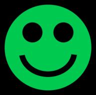 Groene Smiley Magneet 5cm