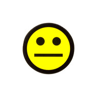 Scrum Smiley 2,5 cm Geel